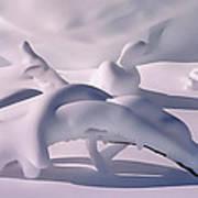 Snow Drift Fantasy Art Print