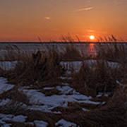 Snow Dune Sunset Seaside Park Nj Art Print