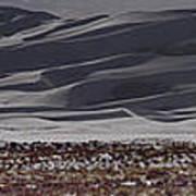 Snow Dunes By Night Art Print