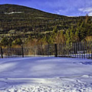 Snow Fence Fall River Road Art Print by Tom Wilbert