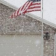 Snow Flag Art Print