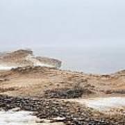 Snow Fog At Whitefish Point Art Print