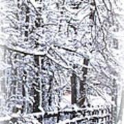 Snow-img-2174-merry Christmas Art Print