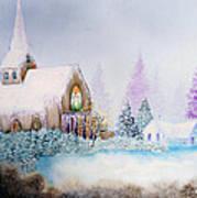 Snow In Florida Art Print