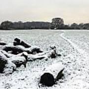 Snow In Surrey England Art Print