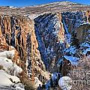 Snow In The Black Canyon Art Print