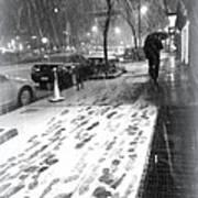 Snow In The City Art Print