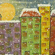 Snow In The City Art Print