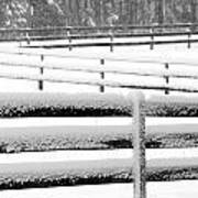 Snow In The Pasture Art Print