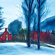 Snow In Vermont Art Print