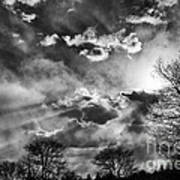 Snow Is In The Air Bw Art Print