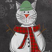 Snow Kitten Art Print