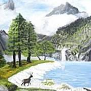 Snow Lake Art Print