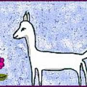 Snow Lamb Art Print by Meenal C