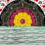 Snow Love Pop Art Art Print