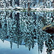Snow Mirror Art Print