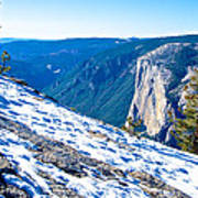 Snow On Sentinel Dome In Yosemite Np-ca Art Print