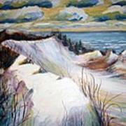 Snow On The Dunes Art Print