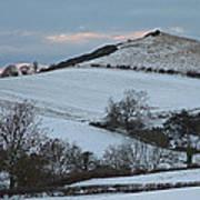 Snow On The Hill Art Print