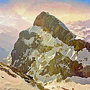 Snow Peaks Of Mount Titlis Art Print