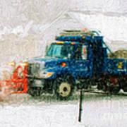 Snow Plow Painterly Art Print