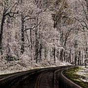 Snow Road Art Print