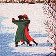 Snow Tango Art Print