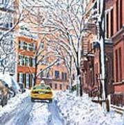 Snow West Village New York City Art Print