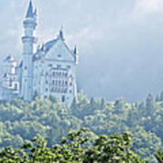 Snow White's Palace In Morning Mist Art Print