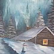 Snowbound Holiday Art Print