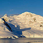 Snowcapped Mountain, Andvord Bay Art Print