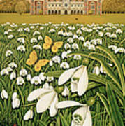 Snowdrop Day, Hatfield House Art Print