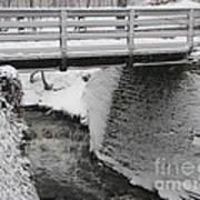 Snowfall Bridge Art Print