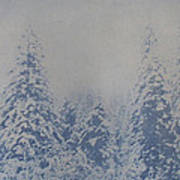 Snowfall in Blue Art Print