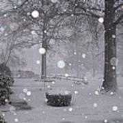 Snowfall On Ayers Art Print