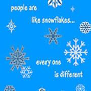 Snowflakes 5 Art Print