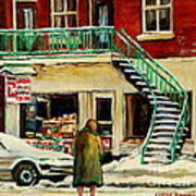 Snowing At The Five And Dime Art Print