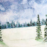 Snowing In Christmas Art Print