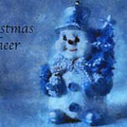 Snowman Christmas Cheer Photo Art 01 Art Print