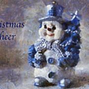 Snowman Christmas Cheer Photo Art 02 Art Print