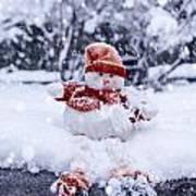 Snowman Art Print by Joana Kruse