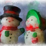 Snowman Photo Art 09 Art Print