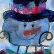 Snowman Photo Art 34 Art Print