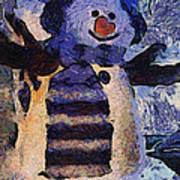 Snowman Photo Art 44 Art Print