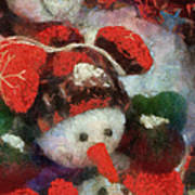 Snowman Photo Art 45 Art Print