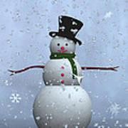 Snowman... Art Print