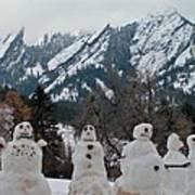 Flatiron Snowmen. Art Print