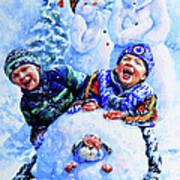 Snowmen Art Print