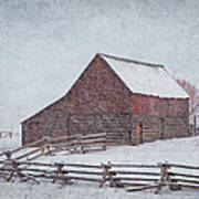 Snowstorm At The Ranch 2 Art Print