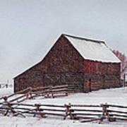 Snowstorm At The Ranch Art Print
